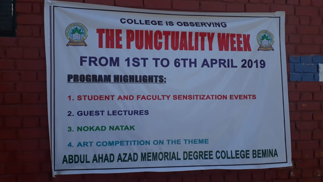 Punctuality Week - 1st April to 6th April