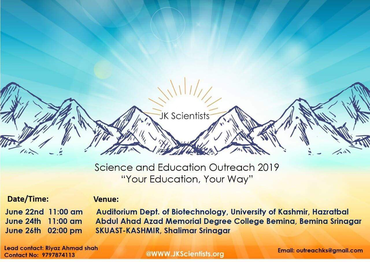 JK scientist education and Outreach Programme